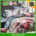 bedding set pink roses/3d bed cover set/brand bed cover