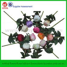 "19"" Peony Arrangement Silk Passion Flowers"