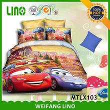 Baby Bed Sheet Printed Cars Character Wholesale Bed Sheets