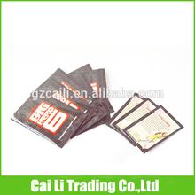 cards packing tear notch top 5 color printed back sealed plastic bag