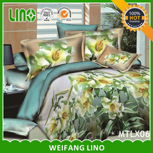 100% Polyester Applique comforter set / fitted sheet/ bedsheet