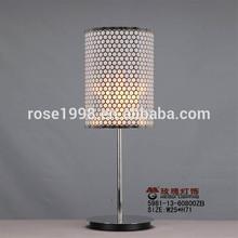 silver small reading desk lamp in steel