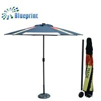 Top-grade Unique Outdoor Equipment LED Solar Powered Patio Umbrella