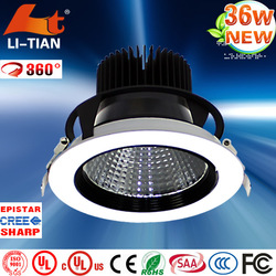 Hot sale enery saving ceiling downlight led house 36w
