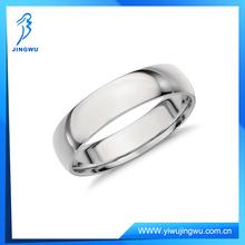 Fashion 925 Silver Comfort Fit Wedding Men's Ring in Platinum
