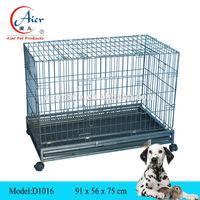 pet supply square tube folding dog cage