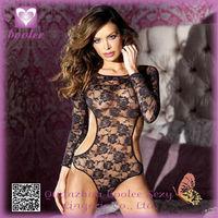 Super sexy transparent open crotch babydoll lingerie sleepwear