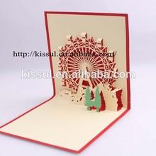 Ferris Wheel Design Laser cut 3D handmade greeting card