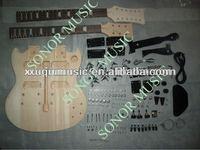 SNGK012 Hot Sale Unfinished Guitar Kit/Double Neck Electric Guitar Kit