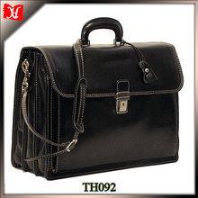 Famous brand men's business bag black business laptop bag
