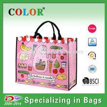 Waterproof laminated pp woven big bag,shopping bag waterproof