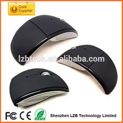2.4Ghz Mini USB Optical Wireless folding mouse New Arc portable foldable Mouse