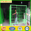 Alibaba Factory outlets best sell Wire Metal Pets Cage with tray and wheels (factory price )