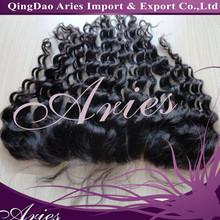 wholesale real european Virgin human Hair Lace frontal Closure deep wave