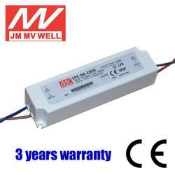 60W waterproof IP67 triac dimmable led driver 1050ma CE RoHS