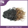 çin kedi kız melekler örgüleri iki ton ombre dokuma remy saç