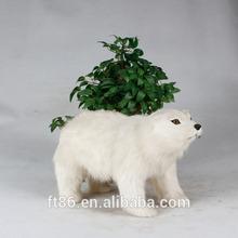 handcraft unstuffed lifelike cute new year 2015 plush realistic polar bear
