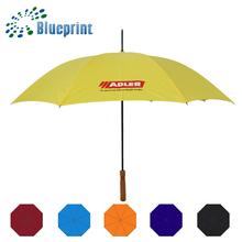 promo cheap metal frame yellow umbrella premium gift