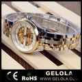 Designer mais popular punho mulheres assistir, marca mecânica relógio esqueleto 2014, automático de moda relógio mecânico