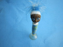 BOBBLE GIRL HEAD BALLPEN WITH SUCTION CUP