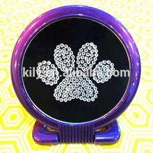 Hotsale Dog paw rhinestone sticker/glitter paw sticker for various decorate