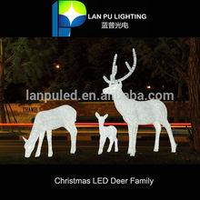 Christmas decoration led motif led manufactory led reindeer family