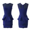 middle simple chiffon design dress china wholesale