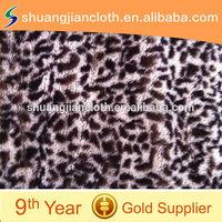 2014 New 100% Polyester Animal Print Plush Fabric For Hometextile/Garment/Toy JLPV-140