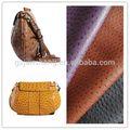 avestruz gravado rolo de tecido de material de couro para a senhora bolsa da forma de utilização