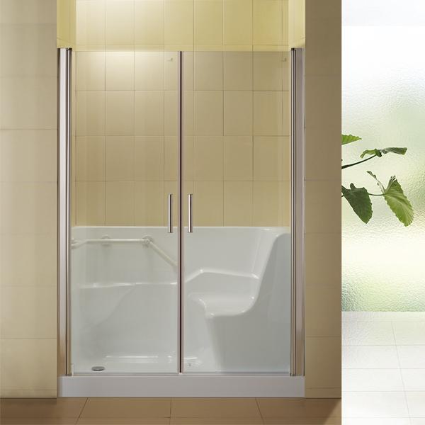 Frameless Shower Enclosures Walk In Tub Shower Combo Walk In Shower Hs B0001