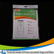 High quality chinese wholesale clear plastic garment cover/plastic dry cleaning bags/cloth counter