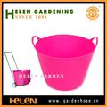 2014 quente colorido baldes, flexível banheira balde de plástico, pe balde