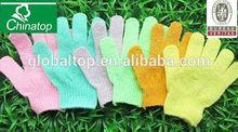 Pair Exfoliating Face Body scrub wash gloves Scrubbing Spa Bath Wash Shower Massage Gloves