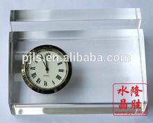 transparant decorative book table clock