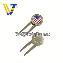Hot Sale metal poker chip style golf ball marker divot tool