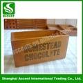 multifuctional madeira pintada à mão caixa de presente