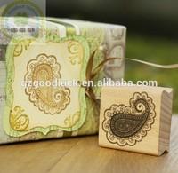Custom logo handy wooden stamp block set