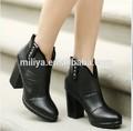 Top calidad plaza de alta del talón y tobillo botas! El patrón de negro botas de plataforma zapatos!