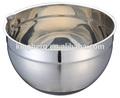 24 CM en acier inoxydable salade mixing bowl avec base de silicium et bec