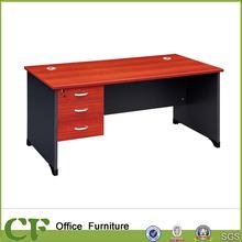 Wooden leg compact office computer desk