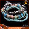 Alibaba Top Design Multi-layer CCB Acrylic Small Beads Bracelet