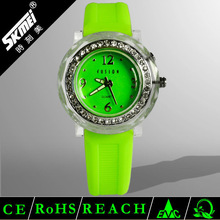 Cute Silicone Band Best Watches Small Wrists with Lovely Rhinestone