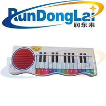 14 key mini piano shape electronic organ (music and light)