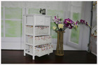 Shabby chic country style white wooden cabinet for bedroom room