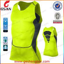 Polyester Custom logo fitness men tank top