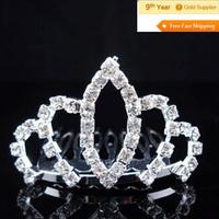 2014 New Fashion Bridal Hair Decoration Pearl Beads Flower Rhinestone Hair Tiaras And Crowns For Wedding Hair Accessories