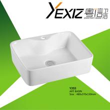 Y203 ceramic sink for bathroom and ceramic wash hand basin