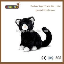 custom made black cat stuffed toy plush animal toys kids for promotional gift