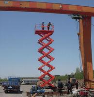 Mobile scissor scaffolding lift, electric scaffolding
