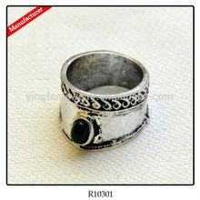 Vintage Sliver Metal Gemstone Men Cock Ring